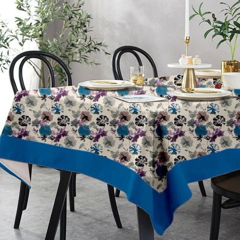Lushomes 6 Seater Small Watercolor Printed Table Cloth