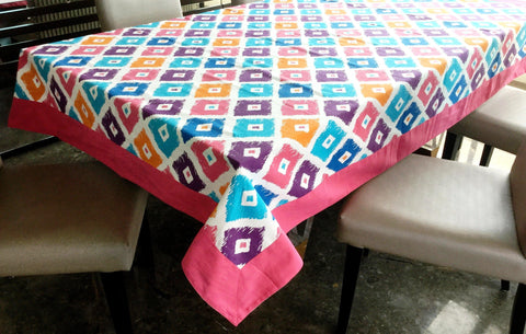 Lushomes 8 Seater Square Printed Table Cloth - Lushomes