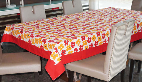 Lushomes 8 Seater Basic Printed Table Cloth - Lushomes
