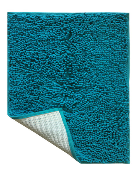 "Lushomes Chenille Peacock Thick and fluffy 2200 GSM bathmat with High Pile Microfiber with Synthetic backing, Super Absorbent (16""x 24"", 40 x 60 cms, Single Pc) - Lushomes"