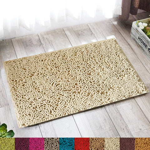 Lushomes Chenille Angora Thick and fluffy 2200 GSM bathmat with High Pile Microfiber with Synthetic backing, Super Absorbent - Lushomes