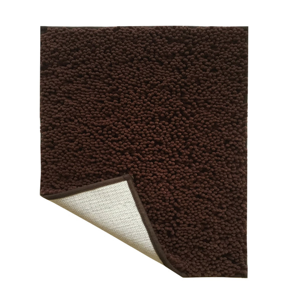 Lushomes Chenille Patridge Thick and fluffy 2200 GSM bathmat with High Pile Microfiber with Synthetic backing, Super Absorbent - Lushomes