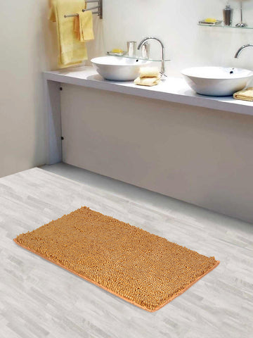 Lushomes Chenille Beeswax Thick and fluffy 2200 GSM bathmat with High Pile Microfiber with Synthetic backing, Super Absorbent - Lushomes