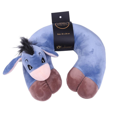 Lushomes Donkey Neck pillow with soft polyester filling. (29 x 30 cms, Single pc) Blue - Lushomes