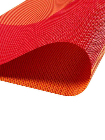 Lushomes Orange Waterproof PVC Placemats in Reusable PVC bag (33 x 45 cms, Pack of 6) - Lushomes