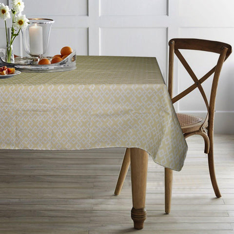 "Lushomes Jigsaw Peva table cloth with Smooth Flannel Table cloth Backing (60 x 90"", Single Piece) - Lushomes"