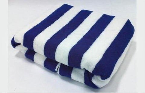 "Cabana Pool Towel. Size 36"" x 72"" - 750 grams - Blue - Lushomes"