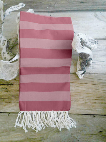 Lushomes Hammam Pink Fouta Towel Cotton Multipurpose Towel With Fringes (76 x 152 cms, Single Pc).