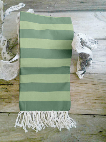 Lushomes Hammam Peacock Green Fouta Towel Cotton Multipurpose Towel With Fringes (76 x 152 cms, Single Pc).