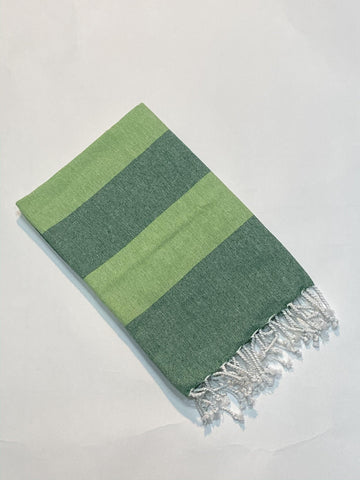 Lushomes Hammam Peacock Green Fouta Towel Cotton Multipurpose Towel With Fringes (76 x 152 cms, Single Pc). - Lushomes