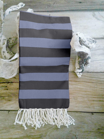 Lushomes Hammam Neavy Blue Fouta Towel Cotton Multipurpose Towel With Fringes (76 x 152 cms, Single Pc).