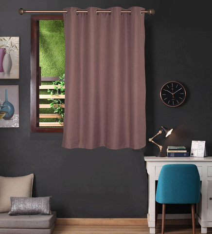 Lushomes Light Lilac Water Repellent Frankfurt Matty Curtain with 8 metal eyelets & tie back for Window (Single pc pack) - Lushomes
