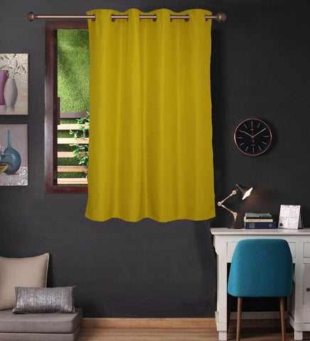 Lushomes Palm Water Repellent Frankfurt Matty Curtain with 8 metal eyelets & tie back for Window (Single pc pack) - Lushomes