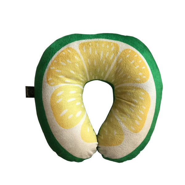 Lushomes Mouthwatering U-Shaped Sweet Lime Fruit Pillows (Single pc packed in a PVC bag, 35 x 35 Cms)