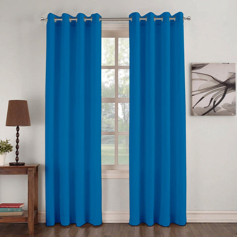 Lushomes Basic Plain Jade Microfiber Door Curtains with Smooth Finish (54 x 90 inch or 140 x 230 cms, 2 Pcs) - Lushomes
