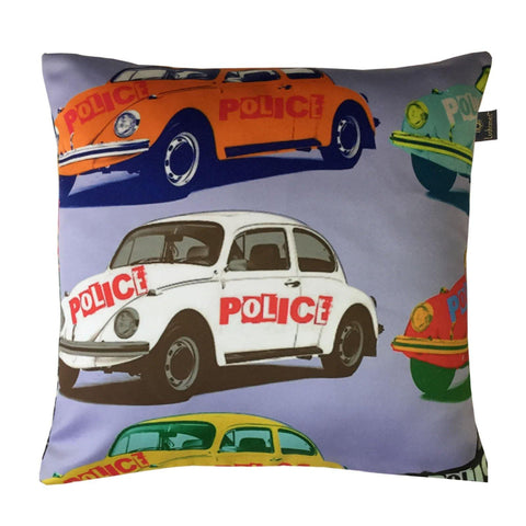 "Lushomes Kids Cars Digital Printed Cushion Cover with top white invisible zipper (16 x 16"", Single Pc) - Lushomes"