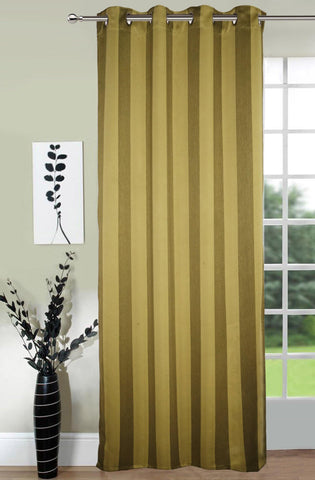 Lushomes Stripes Adorable Green Curtain for Door (single pc) - Lushomes