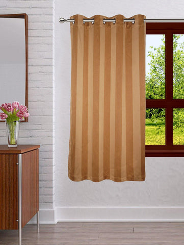 Lushomes Stripes Adorable Gold Curtain for Window (single pc) - Lushomes