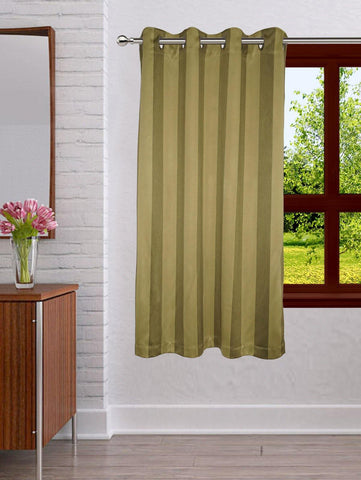 Lushomes Stripes Adorable Green Curtain for Window (single pc) - Lushomes