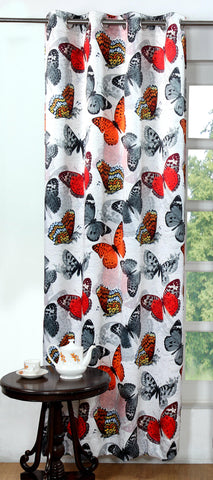 Lushomes Digitally Printed Graffiti Butterfly Polyester Blackout Curtains for Doors (Single pc) - Lushomes