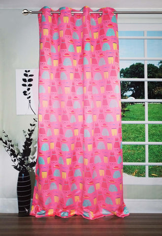 Lushomes Uber Premium Digital Kids Pretty Girl Door Curtains (Single Pc, Size 54 x 90 inch, 8 metal eyelets) - Lushomes