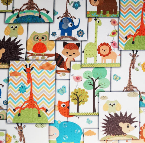 Lushomes Uber Premium Digital Kids Funny Animals Door Curtains (Single Pc, Size 54 x 90 inch, 8 metal eyelets) - Lushomes