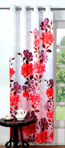Lushomes Digitally Printed Flowery Polyester Blackout Curtains for Long Doors (Single pc) - Lushomes