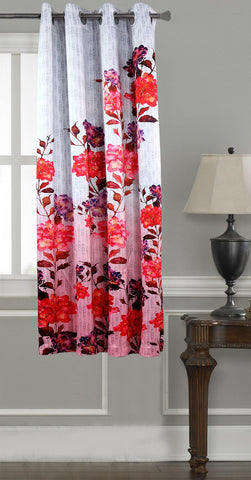 Lushomes Digitally Printed Flowery Polyester Blackout Curtains for Windows (Single pc) - Lushomes