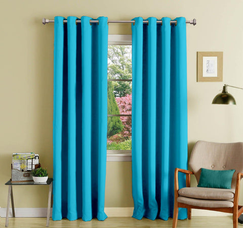 Lushomes Tac Polyester Blackout Curtains with 8 Eyelets for Long Door - Lushomes