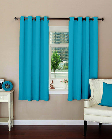 "Lushomes Plain Tac Polyester Blackout Curtains with 8 Metal Eyelets for Windows (Size: 54""x60"", Single pc) - Lushomes"
