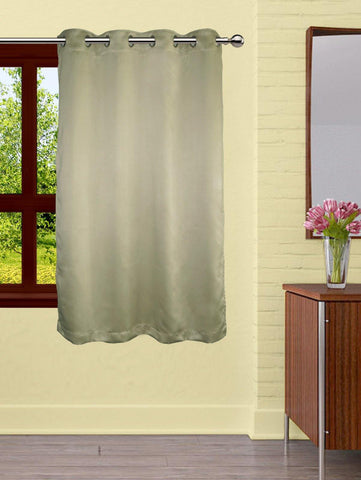 Lushomes Polyester Blackout Window Curtain - 5 feet, Green - Lushomes