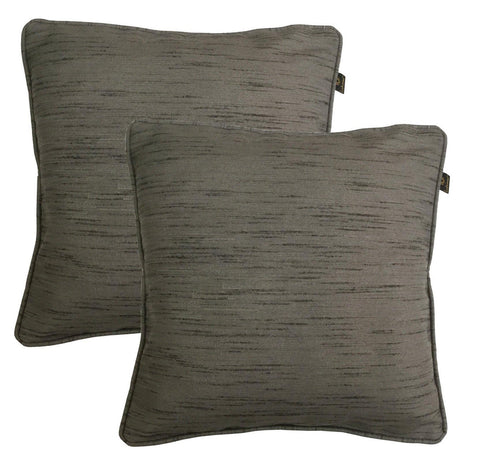 "Lushomes Matka Silk Pack of 2 Grey Cushion Covers (20""x20"") - Lushomes"