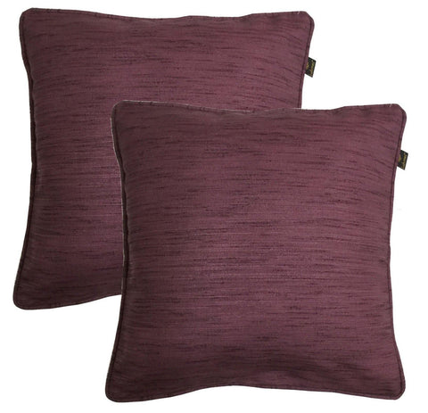 "Lushomes Matka Silk Pack of 2 Purple Cushion Covers (24""x24"") - Lushomes"