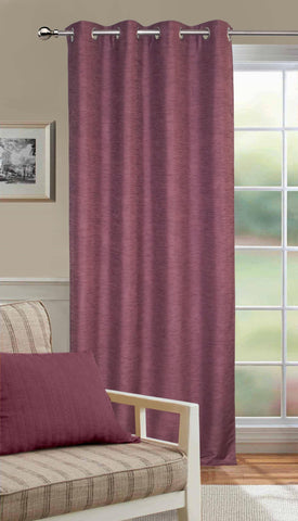 Lushomes Matka Silk Purple Curtain for Door (Single pc) - Lushomes