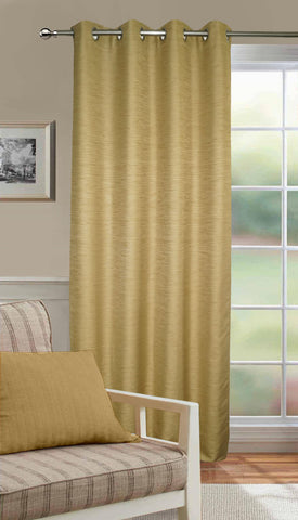Lushomes Matka Silk Beige Curtain for Long Door (Single pc) - Lushomes