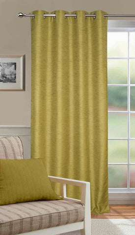 Lushomes Matka Silk Green Curtain for Long Door (Single pc) - Lushomes