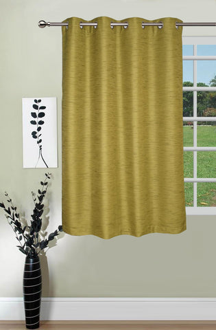 Lushomes Matka Silk Green Curtain for Window (Single pc) - Lushomes