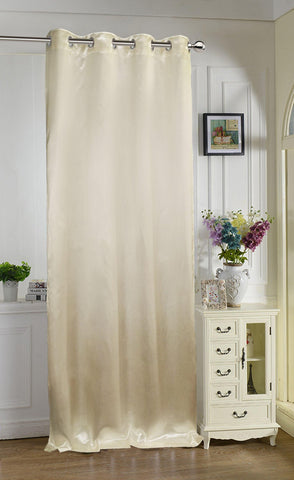 "Lushomes Champagne Contemporary Premium Plain Long Door Curtain with 8 metal Eyelets (54 x 108"")-Torantina, Single pc - Lushomes"
