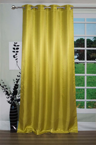 "Lushomes Green Contemporary Stripped Door Curtain with 8 metal Eyelets (54 x 90"")-Torantina - Lushomes"