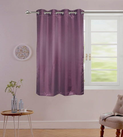 "Lushomes Purple Contemporary Stripped Window Curtain with 8 metal Eyelets (54 x 60"")-Torantina - Lushomes"