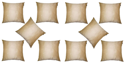 Lushomes Cream Dupion Silk Cushion Covers (Pack of 10) - Lushomes