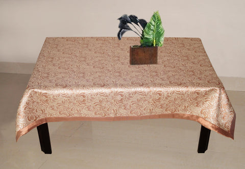 Lushomes Rust 1 Selfdesign Jaquard Centre Table Cloth (Size: 36x60 inches), single pc - Lushomes