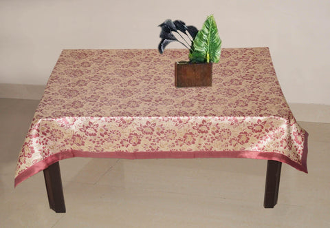 Lushomes Pink 2 Selfdesign Jaquard Centre Table Cloth (Size: 36x60 inches), single pc - Lushomes