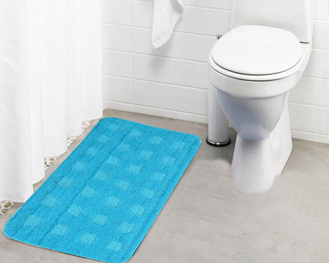Lushomes Ultra Soft Microfiber Polyester Turquoise Large Bath Mat - Lushomes