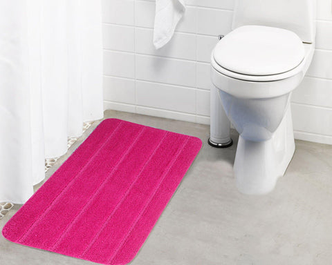 Lushomes Ultra Soft Microfiber Polyester Pink Large Bath Mat - Lushomes