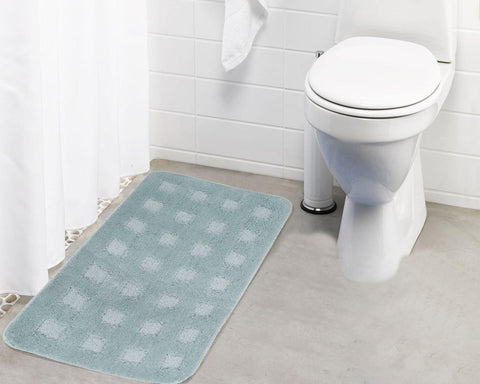 Lushomes Ultra Soft Microfiber Polyester Warm Silver Large Bath Mat - Lushomes