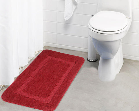 Lushomes Ultra Soft Microfiber Polyester Red Regular Bath Mat - Lushomes