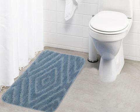 Lushomes Ultra Soft Microfiber Polyester Silver Regular Bath Mat - Lushomes