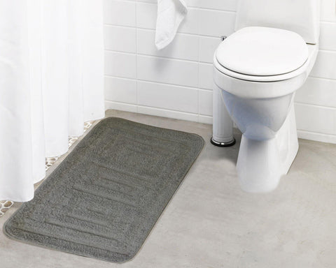 Lushomes Polyester Patterned Microfiber Small Bathmat with Rubber Backing (Single pc) - Lushomes