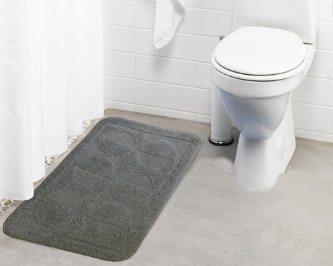 Polyester Pattered Microfibre Small Bathmat with rubber backing (Single pc) - Lushomes